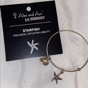 ALEX AND ANI silver Starfish bracelet